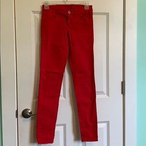 Pants - Soft red jeans
